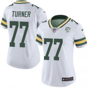 Wholesale Cheap Nike Packers #77 Billy Turner White Women's 100th Season Stitched NFL Vapor Untouchable Limited Jersey