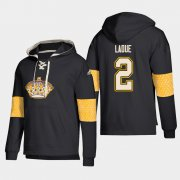 Wholesale Cheap Los Angeles Kings #2 Paul Ladue Black adidas Lace-Up Pullover Hoodie