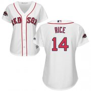 Wholesale Cheap Red Sox #14 Jim Rice White Home 2018 World Series Champions Women's Stitched MLB Jersey