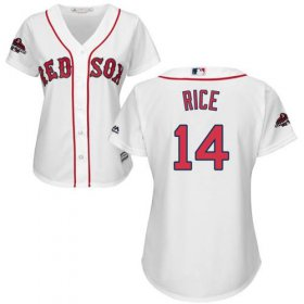 Wholesale Cheap Red Sox #14 Jim Rice White Home 2018 World Series Champions Women\'s Stitched MLB Jersey