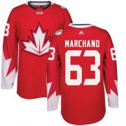 Wholesale Cheap Team Canada #63 Brad Marchand Red 2016 World Cup Stitched Youth NHL Jersey
