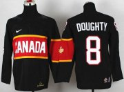 Wholesale Cheap Team Canada 2014 Olympic #8 Drew Doughty Black Stitched Youth NHL Jersey