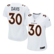 Wholesale Cheap Nike Broncos #30 Terrell Davis White Women's Stitched NFL Game Event Jersey