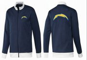 Wholesale Cheap NFL Los Angeles Chargers Team Logo Jacket Dark Blue_1