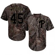 Wholesale Cheap Phillies #45 Zack Wheeler Camo Realtree Collection Cool Base Stitched Youth MLB Jersey