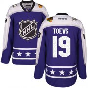 Wholesale Cheap Blackhawks #19 Jonathan Toews Purple 2017 All-Star Central Division Women's Stitched NHL Jersey