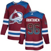 Wholesale Cheap Adidas Avalanche #96 Mikko Rantanen Burgundy Home Authentic Drift Fashion Stitched NHL Jersey