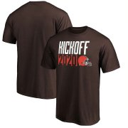 Wholesale Cheap Cleveland Browns Fanatics Branded Kickoff 2020 T-Shirt Brown