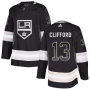 Wholesale Cheap Adidas Kings #13 Kyle Clifford Black Home Authentic Drift Fashion Stitched NHL Jersey