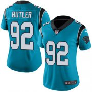 Wholesale Cheap Nike Panthers #92 Vernon Butler Blue Women's Stitched NFL Limited Rush Jersey