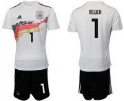 Wholesale Cheap Germany #1 Neuer White Home Soccer Country Jersey