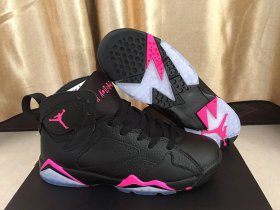 Wholesale Cheap Womens Jordan VII Retro Shoes Black Pink