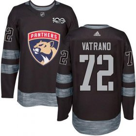Wholesale Cheap Adidas Panthers #72 Frank Vatrano Black 1917-2017 100th Anniversary Stitched NHL Jersey