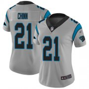 Wholesale Cheap Nike Panthers #21 Jeremy Chinn Silver Women's Stitched NFL Limited Inverted Legend Jersey