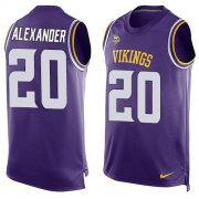 Wholesale Cheap Nike Vikings #20 Mackensie Alexander Purple Team Color Men's Stitched NFL Limited Tank Top Jersey