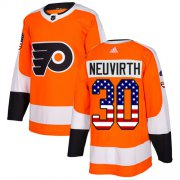 Wholesale Cheap Adidas Flyers #30 Michal Neuvirth Orange Home Authentic USA Flag Stitched NHL Jersey
