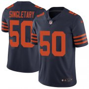 Wholesale Cheap Nike Bears #50 Mike Singletary Navy Blue Alternate Men's Stitched NFL Vapor Untouchable Limited Jersey