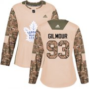 Wholesale Cheap Adidas Maple Leafs #93 Doug Gilmour Camo Authentic 2017 Veterans Day Women's Stitched NHL Jersey