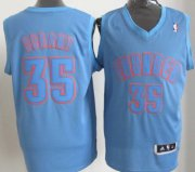 Wholesale Cheap Oklahoma City Thunder #35 Kevin Durant Revolution 30 Swingman Light Blue Big Color Jersey