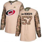 Wholesale Cheap Adidas Hurricanes #57 Trevor Van Riemsdyk Camo Authentic 2017 Veterans Day Stitched Youth NHL Jersey
