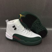 Wholesale Cheap Air Jordan 12 Retro Shoes White/Green-Red