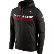 Wholesale Cheap Men's Tampa Bay Buccaneers Nike Pewter Sideline Circuit Pullover Performance Hoodie