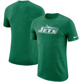 Wholesale Cheap New York Jets Nike Marled Historic Logo Performance T-Shirt Heathered Green