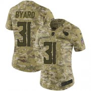 Wholesale Cheap Nike Titans #31 Kevin Byard Camo Women's Stitched NFL Limited 2018 Salute to Service Jersey