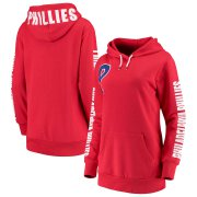 Wholesale Cheap Philadelphia Phillies G-III 4Her by Carl Banks Women's 12th Inning Pullover Hoodie Red