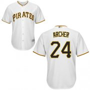 Wholesale Cheap Pirates #24 Chris Archer White Cool Base Stitched Youth MLB Jersey