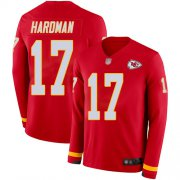 Wholesale Cheap Nike Chiefs #17 Mecole Hardman Red Team Color Men's Stitched NFL Limited Therma Long Sleeve Jersey