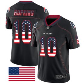 Wholesale Cheap Nike Texans #10 DeAndre Hopkins Black Men\'s Stitched NFL Limited Rush USA Flag Jersey