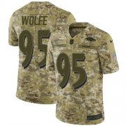 Wholesale Cheap Nike Ravens #95 Derek Wolfe Camo Men's Stitched NFL Limited 2018 Salute To Service Jersey