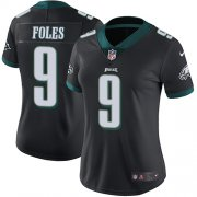 Wholesale Cheap Nike Eagles #9 Nick Foles Black Alternate Women's Stitched NFL Vapor Untouchable Limited Jersey