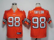 Wholesale Cheap Browns #98 Phil Taylor Orange Stitched NFL Jersey