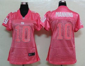 Wholesale Cheap Nike Giants #10 Eli Manning Pink Sweetheart Women\'s NFL Game Jersey