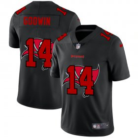 Wholesale Cheap Tampa Bay Buccaneers #14 Chris Godwin Men\'s Nike Team Logo Dual Overlap Limited NFL Jersey Black