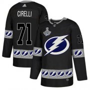 Cheap Adidas Lightning #71 Anthony Cirelli Black Authentic Team Logo Fashion 2020 Stanley Cup Champions Stitched NHL Jersey