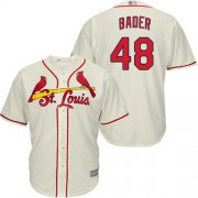 Wholesale Cheap Cardinals #48 Harrison Bader Cream Cool Base Stitched Youth MLB Jersey