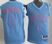 Wholesale Cheap Oklahoma City Thunder #0 Russell Westbrook Revolution 30 Swingman Light Blue Big Color Jersey