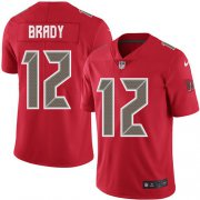 Wholesale Cheap Nike Buccaneers #12 Tom Brady Red Men's Stitched NFL Limited Rush Jersey