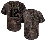Wholesale Cheap Brewers #12 Stephen Vogt Camo Realtree Collection Cool Base Stitched Youth MLB Jersey