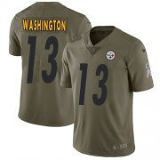 Wholesale Cheap Nike Steelers #13 James Washington Olive Men's Stitched NFL Limited 2017 Salute To Service Jersey