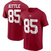 Wholesale Cheap San Francisco 49ers #85 George Kittle Nike Team Player Name & Number T-Shirt Scarlet
