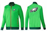 Wholesale Cheap NFL Philadelphia Eagles Team Logo Jacket Green_1