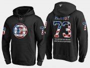 Wholesale Cheap Bruins #73 Charlie Mcavoy NHL Banner Wave Usa Flag Black Hoodie