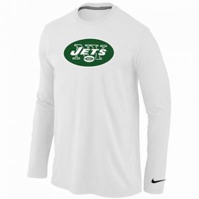 Wholesale Cheap Nike New York Jets Logo Long Sleeve T-Shirt White
