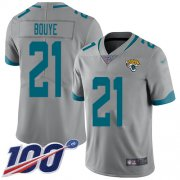 Wholesale Cheap Nike Jaguars #21 A.J. Bouye Silver Men's Stitched NFL Limited Inverted Legend 100th Season Jersey