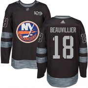 Wholesale Cheap Adidas Islanders #18 Anthony Beauvillier Black 1917-2017 100th Anniversary Stitched NHL Jersey