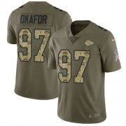 Wholesale Cheap Nike Chiefs #97 Alex Okafor Olive/Camo Men's Stitched NFL Limited 2017 Salute To Service Jersey